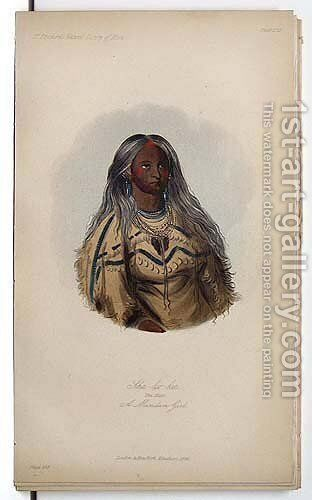 Sha-ko-ka, A Mandan Girl by George Catlin - Reproduction Oil Painting