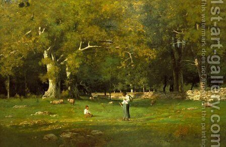 An Old Roadway by George Inness - Reproduction Oil Painting