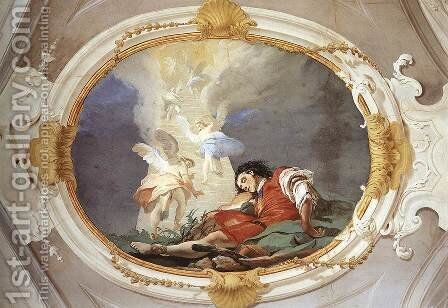 Jacob's Dream by Giovanni Battista Tiepolo - Reproduction Oil Painting