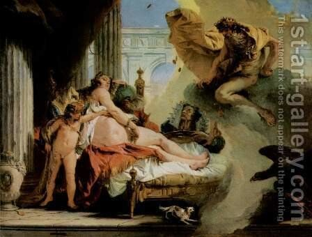 Jupiter and Danaë by Giovanni Battista Tiepolo - Reproduction Oil Painting