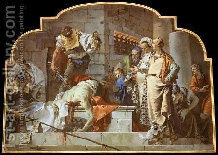 The Beheading of John the Baptist by Giovanni Battista Tiepolo - Reproduction Oil Painting