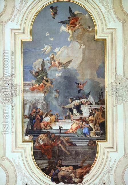The Institution of the Rosary by Giovanni Battista Tiepolo - Reproduction Oil Painting