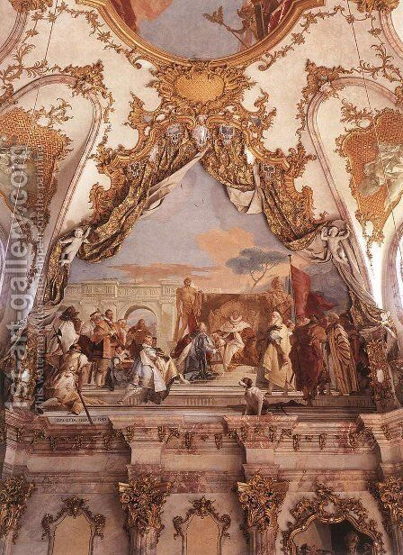 The Investiture of Herold as Duke of Franconia by Giovanni Battista Tiepolo - Reproduction Oil Painting