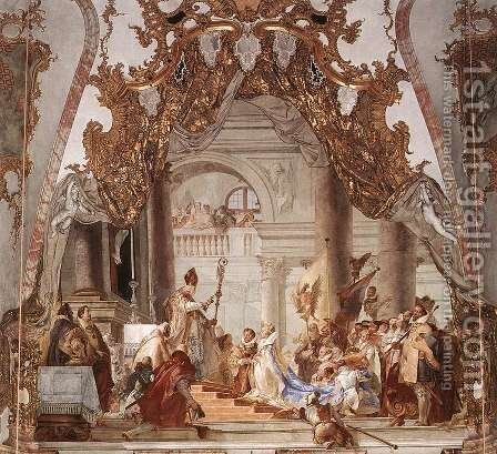 The Marriage of the Emperor Frederick Barbarossa to Beatrice of Burgundy by Giovanni Battista Tiepolo - Reproduction Oil Painting