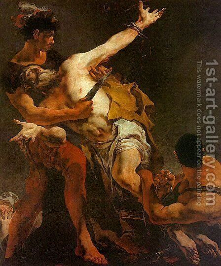 The Martyrdom of St. Bartholomew by Giovanni Battista Tiepolo - Reproduction Oil Painting