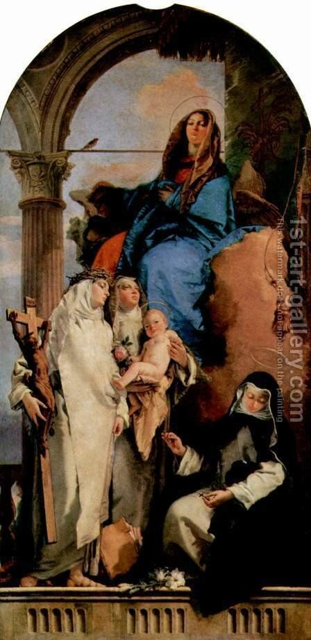 The Virgin Appearing to Dominican Saints by Giovanni Battista Tiepolo - Reproduction Oil Painting