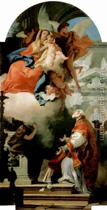 The Virgin Appearing to St Philip Neri by Giovanni Battista Tiepolo - Reproduction Oil Painting