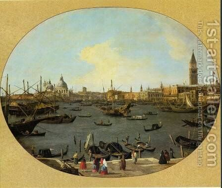 Venice Viewed from the San Giorgio Maggiore by (Giovanni Antonio Canal) Canaletto - Reproduction Oil Painting