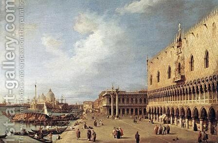 View of the Ducal Palace by (Giovanni Antonio Canal) Canaletto - Reproduction Oil Painting
