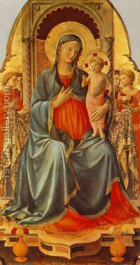 Madonna with the Child and Angels by Angelico Fra - Reproduction Oil Painting