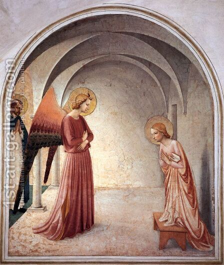The Annunciation 2 by Angelico Fra - Reproduction Oil Painting