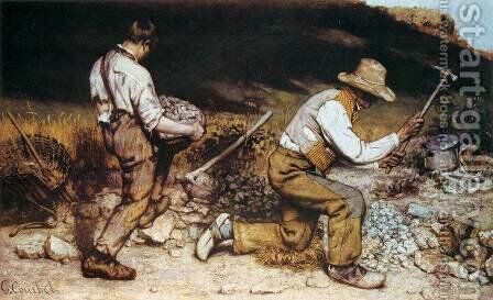 Stonebreakers by Gustave Courbet - Reproduction Oil Painting