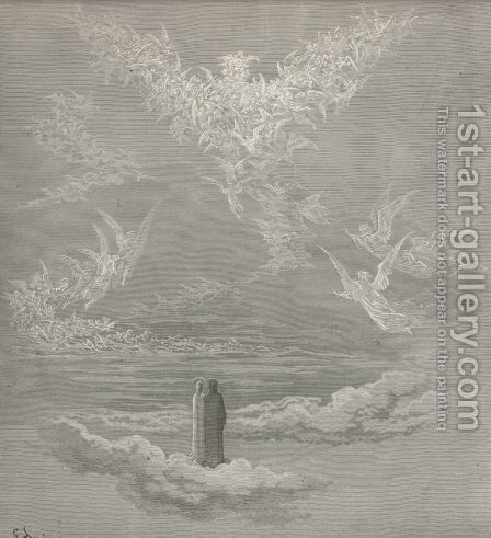 Before my sight appear'd, with open wings, The beauteous image (Canto XIX., lines 1-2) by Gustave Dore - Reproduction Oil Painting