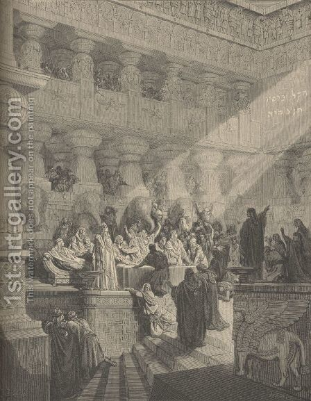 Belshazzar's Feast by Gustave Dore - Reproduction Oil Painting