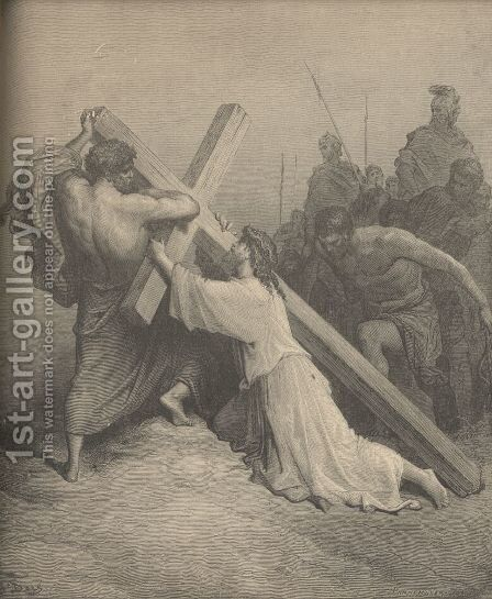 Christ Fainting Under The Cross by Gustave Dore - Reproduction Oil Painting