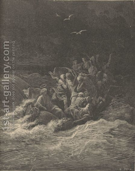 Christ Stilling The Tempest by Gustave Dore - Reproduction Oil Painting