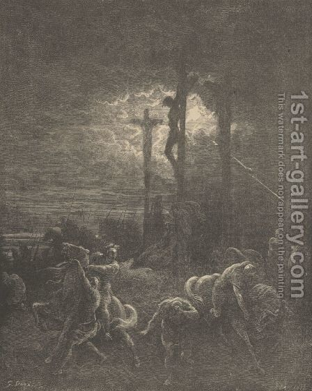 Close Of The Crucifixion by Gustave Dore - Reproduction Oil Painting