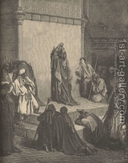 David Mourning Over Absalom by Gustave Dore - Reproduction Oil Painting