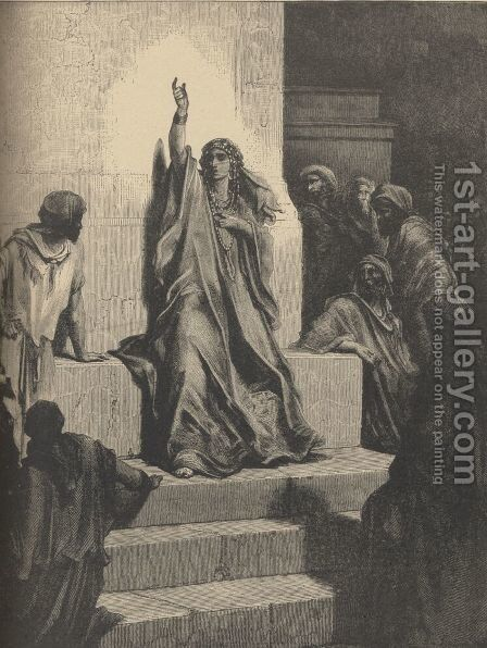 Deborah's Song Of Triumph by Gustave Dore - Reproduction Oil Painting