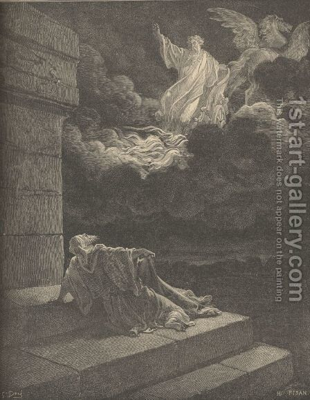 Elijah's Ascent In A Chariot Of Fire by Gustave Dore - Reproduction Oil Painting