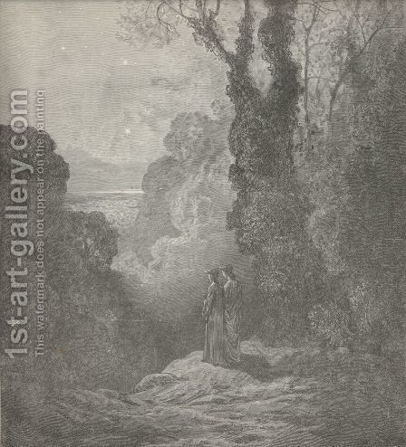 Four stars ne'er seen before (Canto I., line 27) by Gustave Dore - Reproduction Oil Painting