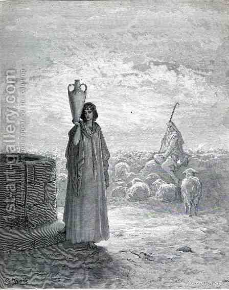 Jacob Tending The Flocks by Gustave Dore - Reproduction Oil Painting