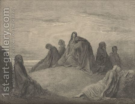 Jephthah's Daughter And Her Companions by Gustave Dore - Reproduction Oil Painting