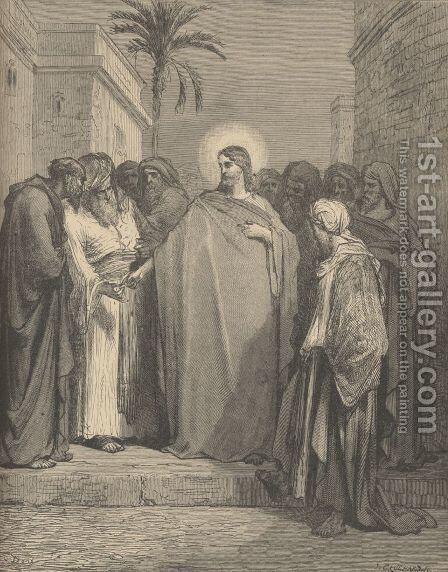 Jesus And The Tribute Money by Gustave Dore - Reproduction Oil Painting