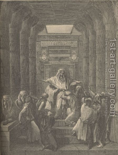 Joseph Making Himself Known To His Brethren by Gustave Dore - Reproduction Oil Painting