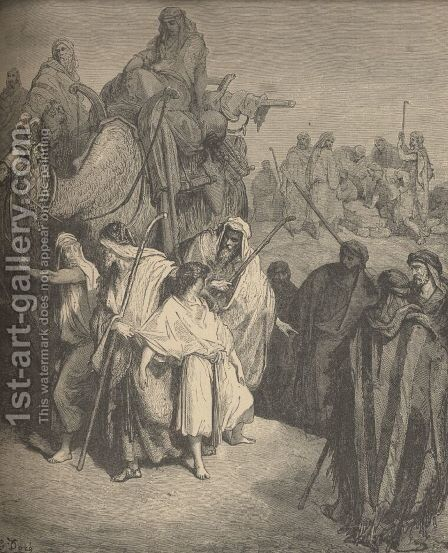Joseph Sold Into Egypt by Gustave Dore - Reproduction Oil Painting