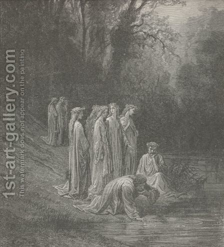 Lethe's water hath not hid it from him. (Canto XXXIII., line 130) by Gustave Dore - Reproduction Oil Painting