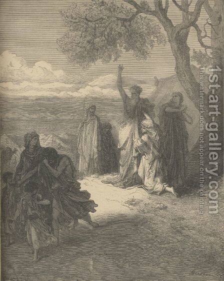Noah Cursing Ham by Gustave Dore - Reproduction Oil Painting