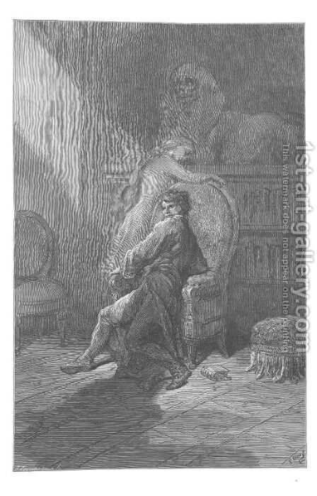 On this home by Horror haunted. by Gustave Dore - Reproduction Oil Painting