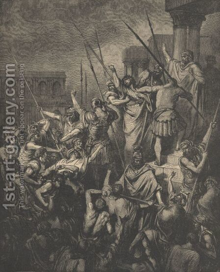 Paul Menaced By The Jews by Gustave Dore - Reproduction Oil Painting