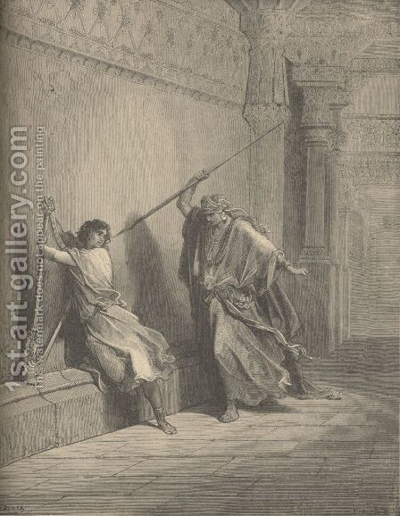 Saul And David by Gustave Dore - Reproduction Oil Painting