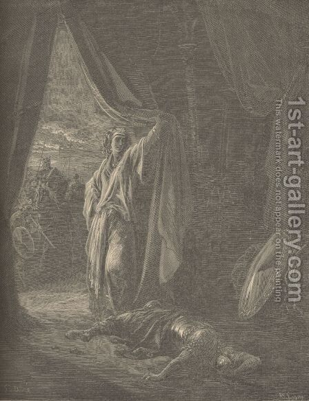 Sisera Slain By Jael by Gustave Dore - Reproduction Oil Painting