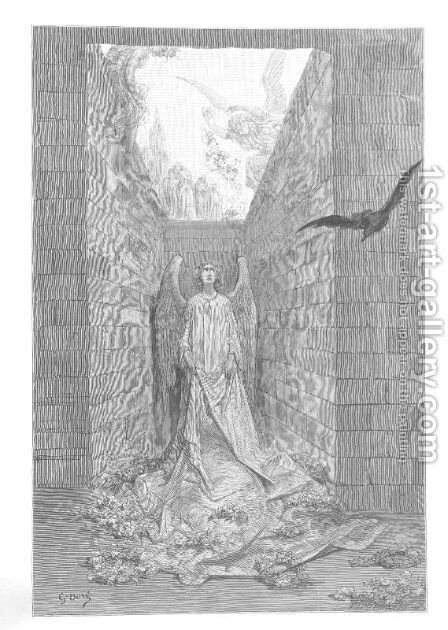 Sorrow for the lost Lenore. by Gustave Dore - Reproduction Oil Painting