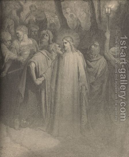 The Betrayal by Gustave Dore - Reproduction Oil Painting