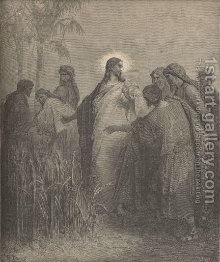The Disciples Plucking Corn On The Sabbath by Gustave Dore - Reproduction Oil Painting
