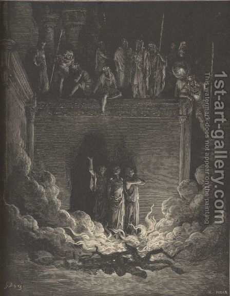 The Fiery Furnace by Gustave Dore - Reproduction Oil Painting