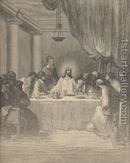 The Last Supper by Gustave Dore - Reproduction Oil Painting
