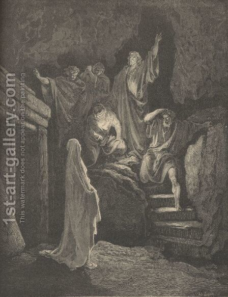 The Resurrection Of Lazarus by Gustave Dore - Reproduction Oil Painting
