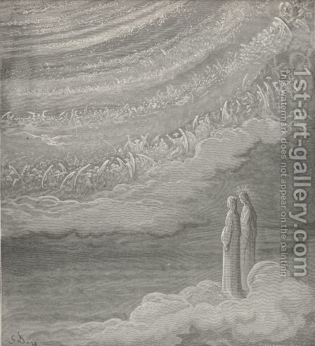 Then heard I echoing on from choir to choir, (Canto XXVII., line 86) by Gustave Dore - Reproduction Oil Painting