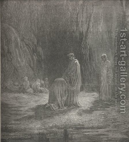 There I with little innocents abide,  (Canto VII., line 31) by Gustave Dore - Reproduction Oil Painting