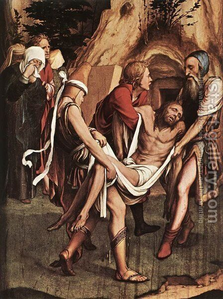 The Entombment by Hans, the Younger Holbein - Reproduction Oil Painting