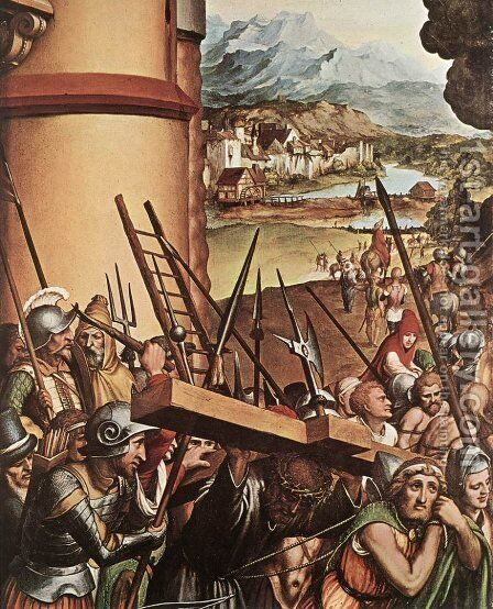 The Via Crucis by Hans, the Younger Holbein - Reproduction Oil Painting