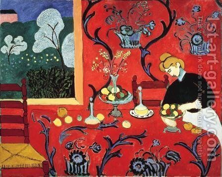 Harmony in Red by Henri Matisse - Reproduction Oil Painting
