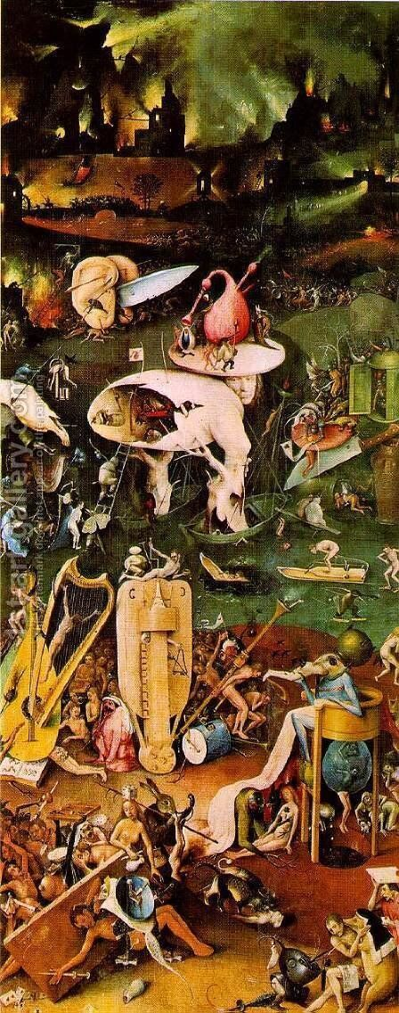 Hell 4 by Hieronymous Bosch - Reproduction Oil Painting