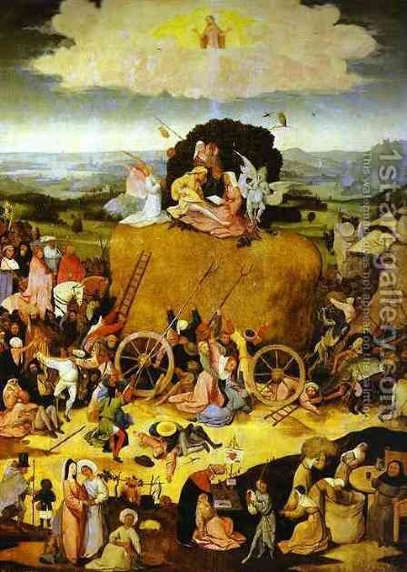 The Haywain by Hieronymous Bosch - Reproduction Oil Painting