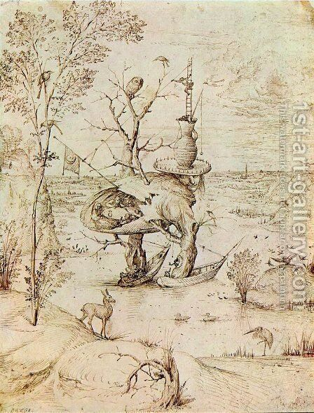 The Man-Tree by Hieronymous Bosch - Reproduction Oil Painting